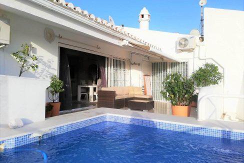 attico con piscina privata